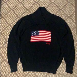 Hudson American Flag Black Sweater